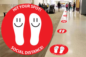 Anti-Slip Floor Decal (10 Pack) Design 2
